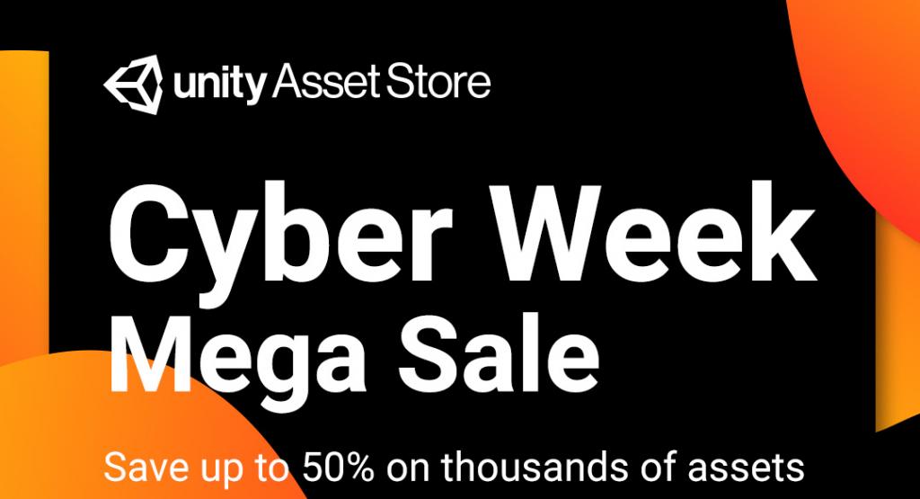 Unity Asset Store黑五之后,Cyber Week半价大促又来了