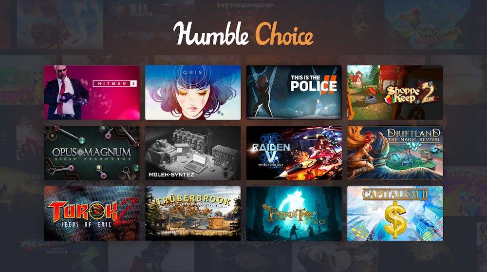 Humble Bundle超值正版游戏Steam激活码 – Humble Choice月度游戏优惠包